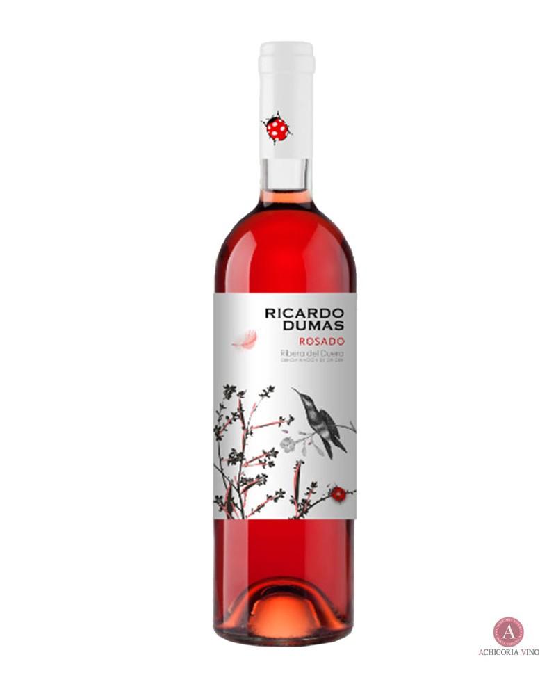 Vino rosado. Vino de Ribera del Duero. Botellas de vino. 100% Tinto fino.