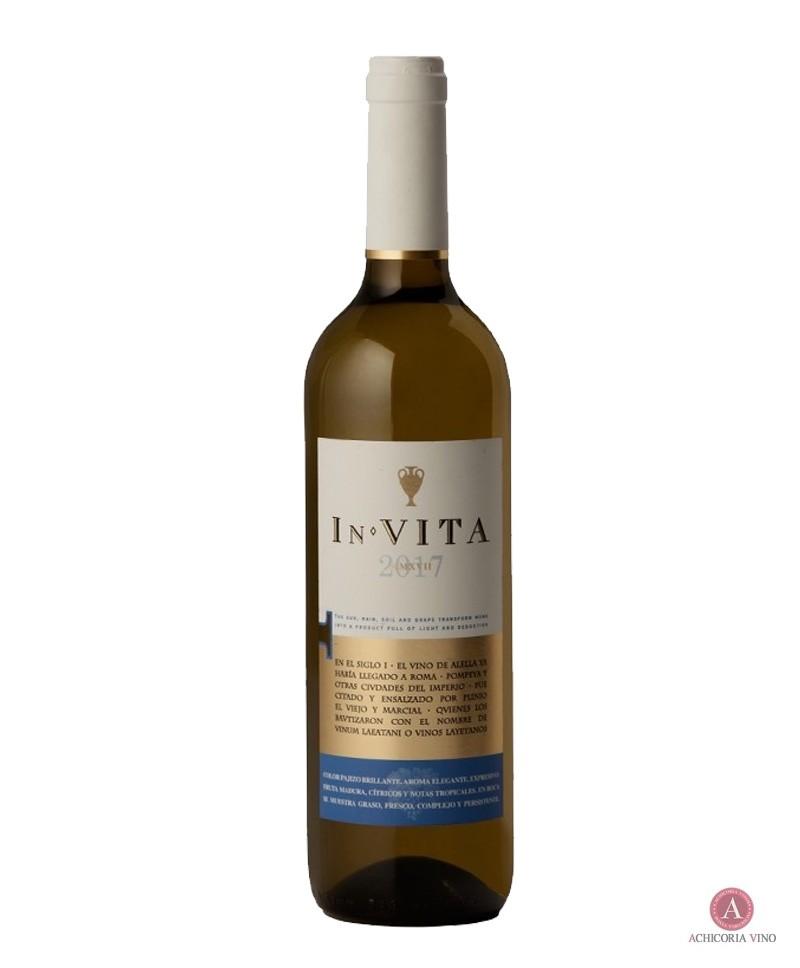 Vino blanco. Vino In Vita. Botellas de vino. 50% Pasa Blanca/ 50% Sauvignon Blanc.