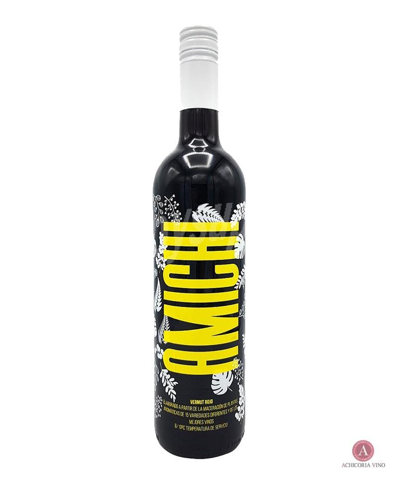 Vino Rioja. Botellas de vino. Vermut rojo.