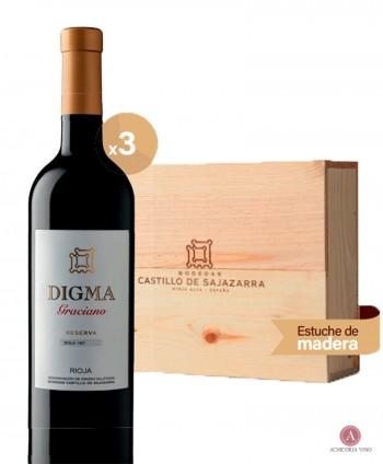 Vino tinto. Vino Rioja. Botellas de vino. Graciano. Vino para empresas. Pack de vino. Caja de madera.
